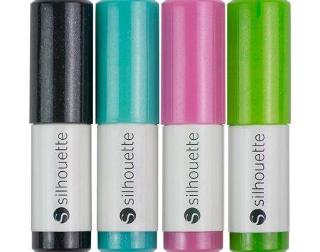 Silhouette Penne Glitter 4 pezzi SILH-PEN-GL/-3T Creativamenteplotter per Silhouette Cameo Curio e Portrait