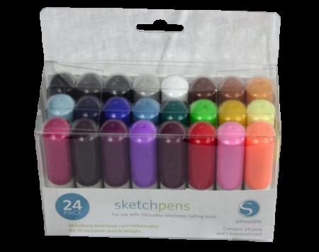 sketch pens kit 24 pezzi