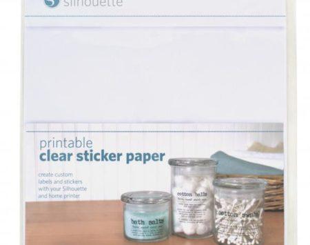 Pellicola trasparente stampabile per etichette adesive