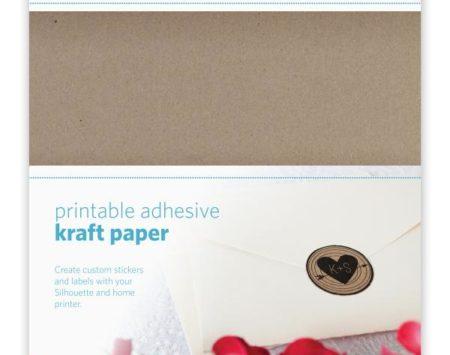 Carta Kraft Adesiva A4 per Silhouette CAMEO e Portrait