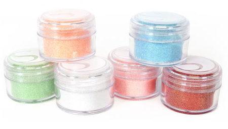 Polverine Glitter nei colori pastello per Silhouette CAMEO e Portrait