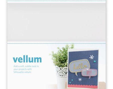 Silhouette Vellum opalino stampabile
