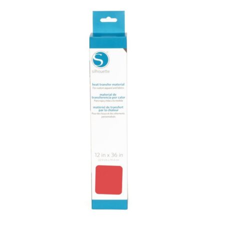 HEAT-12SM-SAL. Termotrasferibile liscio originale Silhouette colore Salmone 305mm x 0,9mt