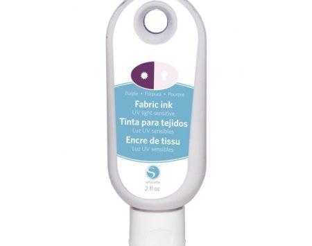 SILH-INK-UV-PUR inchiostro tessile sensibile ai raggi UV. Colore Viola.