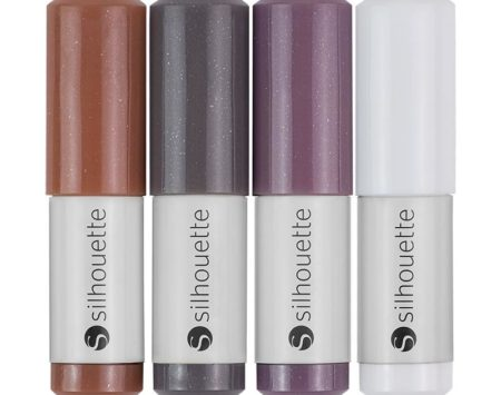 Silhouette Natural Pens 4 pezzi SILH-PEN-NAT Colori Natural Creativamenteplotter Silhouette Cameo Curio New Cameo Portrait Cameo 3