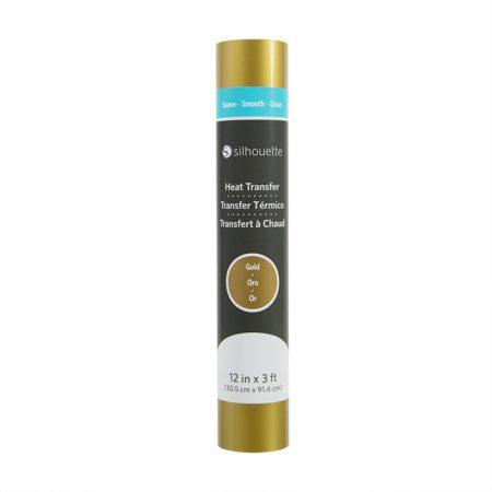 Silhouette Trasferimento Termico Liscio Oro 305 mm x 90 cm per decorazioni su tessuto con Silhouette Cameo 3, Portrait, New Cameo, Curio, Cameo