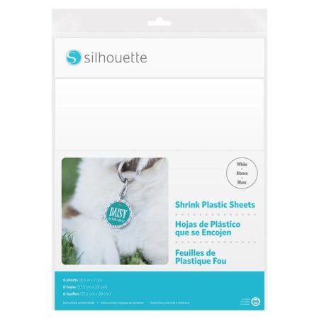 Silhouette fogli plastica termoretraibile bianca stampabile MEDIA-SHRINK-WHT bigiotteria targhette giocattoli con Silhouette Cameo Portrait Curio New Cameo Cameo 3
