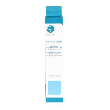 Silhouette Trasferimento Termico Liscio Azzurro 305 mm x 90 cm HEAT-12SM-LTBLU Creativamenteplotter