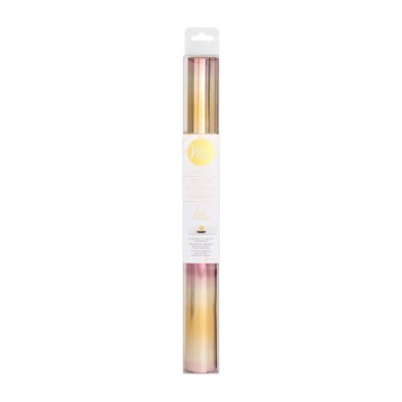 Heidi Swapp Minc Foil Sfumato Rosa Oro rotolo di pellicola per doratura 311 mm x 3049 mm Creativamenteplotter MINC FOIL PINK GOLD OMBRE 312990