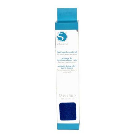 Silhouette Trasferimento Termico Flock Vellutato Blu Lavato 305 mm x 90 cm Creativamenteplotter importatore ufficiale Silhouette America
