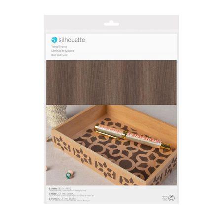 Silhouette Media-Wood-2 legno adesivo per decorazioni. Per taglierine elettroniche Silhouette Cameo Portrait Curio. Creativamenteplotter importatore ufficiale Silhouette America