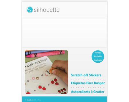 Pellicola tipo gratta e vinci bianca stampabile Silhouette MEDIA-SCRATCH-PRINT