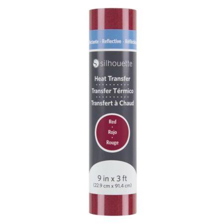 Silhouette Trasferimento Termico Riflettente Rosso HEAT-9REFL-RED 22,9 cm x 91,4 cm