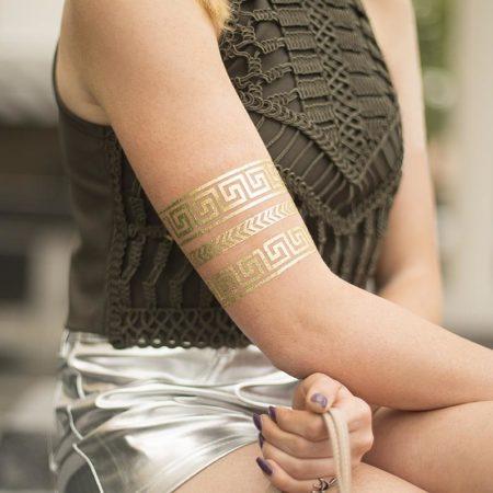 Fogli per tatuaggi temporanei o decorazione ceramica e cera oro MEDIA-TATTOO-GLD