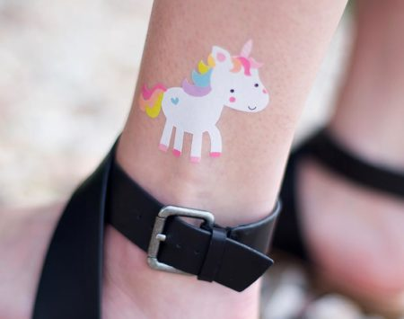 Fogli bianchi stampabili per tatuaggi temporanei o decorazione ceramica e candele MEDIA-TATTOO-WHT