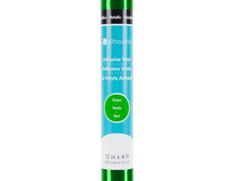 Silhouette Vinile Metallico Specchiato Verde 30,5 cm x 122 cm V12-GP-MTGRN-C