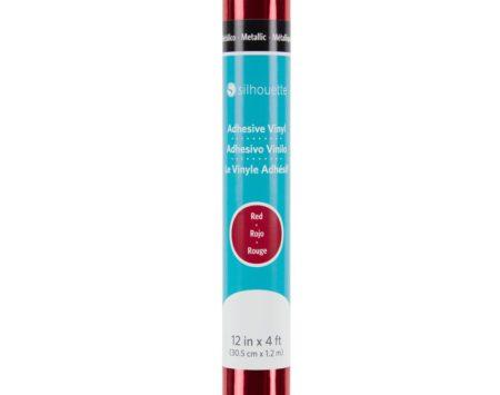 Silhouette Vinile Metallico Specchiato Rosso 30,5 cm x 122 cm V12-GP-MTRED-C