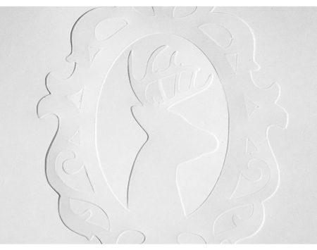 Fogli di carta per embossing Silhouette EMBOSS-PPR-A7 per silhouette Curio embossare cartoncini inviti biglietti
