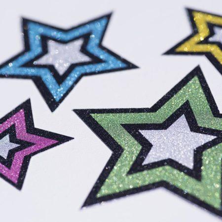 Carta adesiva glitter stampabile Silhouette MEDIA-GLT-ADH Creativamenteplotter importatore ufficiale Silhouette plotter e taglierine Cameo Curio Portrait