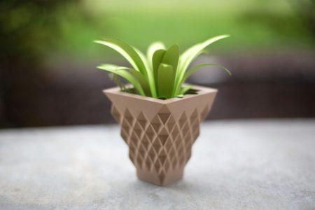 Silhouette ALTA® Stampante 3D a filamento di PLA. Stampa tridimensionale per hobby e decorazione. Vaso stampato in 3D