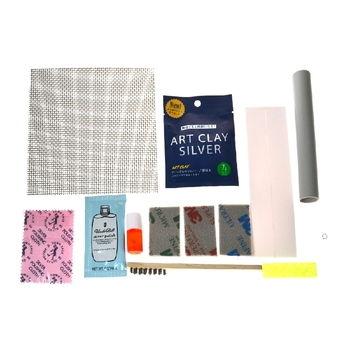 Artclay Silver Basic Kit per gioielli in argento contenuto della confezione per creare gioielli in argento.
