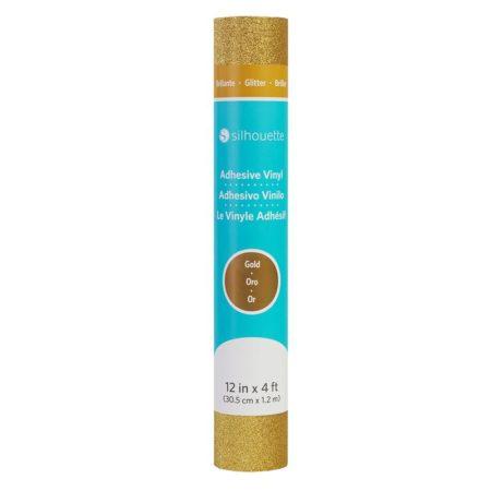 Vinile Silhouette Glitter oro V12-GL-GLD Creativamenteplotter importatore ufficiale Silhouette America per Cameo Portrait Curio Alta