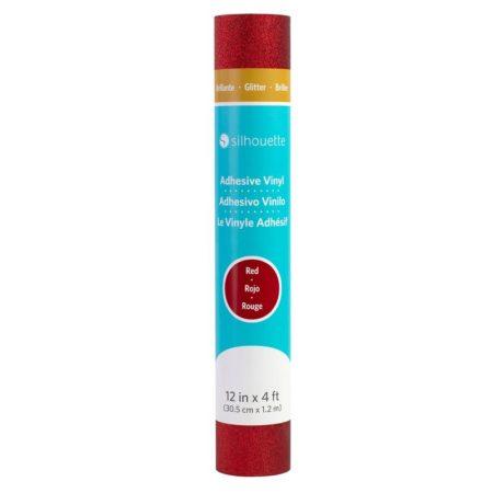 Silhouette Vinile per decorazioni adesive finitura Glitter Rosso 30,5 cm x 120 cm per Cameo Curio Portrait