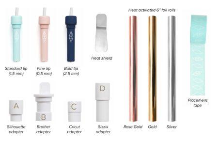 Foil Quill sistema di doratura a caldo per Silhouette Cameo 3 contenuto kit