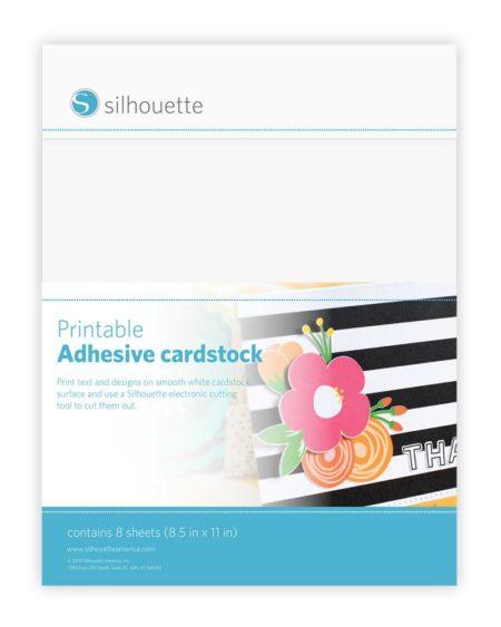 Cartone adesivo stampabile liscio Silhouette MEDIA-CARD-ADH cartoncino cardstock per Silhouette Cameo Curio e Portrait