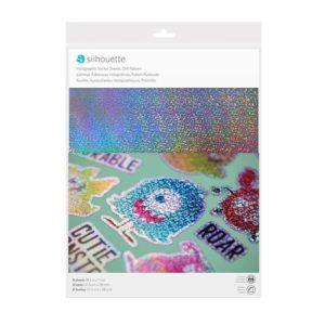 Carta adesiva a punti olografici Silhouette
