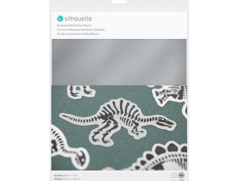 Carta adesiva effetto argento metallizzato spazzolato Silhouette