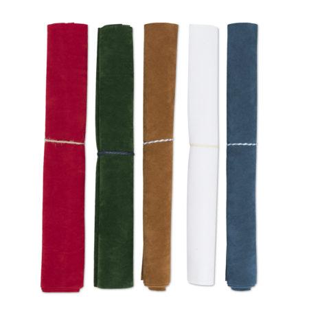 Set velluto Carta da zucchero scuro, Rosso, Cammello, Verde Pino, Bianco candido. per taglio con Silhouette Cameo 4