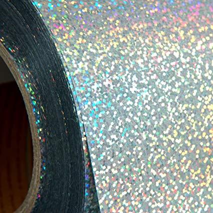 Vinile adesivo Argento effetto glitter olografico 30cm x 2 metri Creativamenteplotter per Cameo Portrait Silhouette