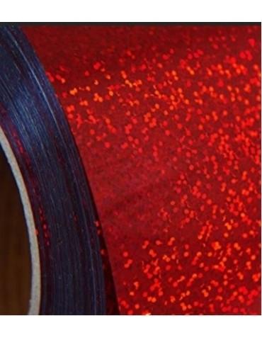 Vinile adesivo rosso effetto glitter olografico 30cm x 2 metri Creativamente Plotter per Silhouette Cameo Portrait