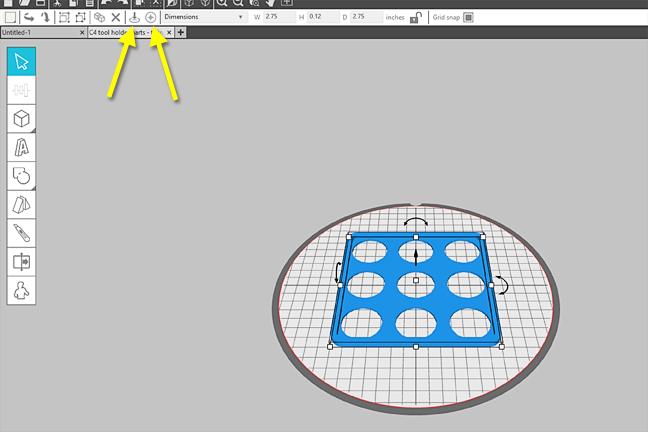 Tutorial stampa 3d portautensili Cameo Creativamente Plotter 15