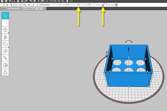 Tutorial stampa 3d portautensili Cameo Creativamente Plotter 16