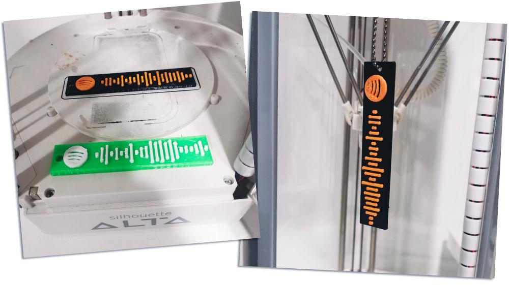Stampa 3d portachiavi codice Spotify