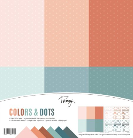 Carta Craft 250gr Tommy paper pack – Colors & Dots