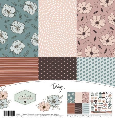Carta Craft 250gr Tommy paper pack – Vintage Flowers