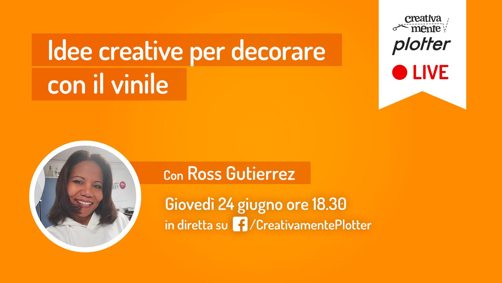 Diretta-Ross-vinile creativamente plotter