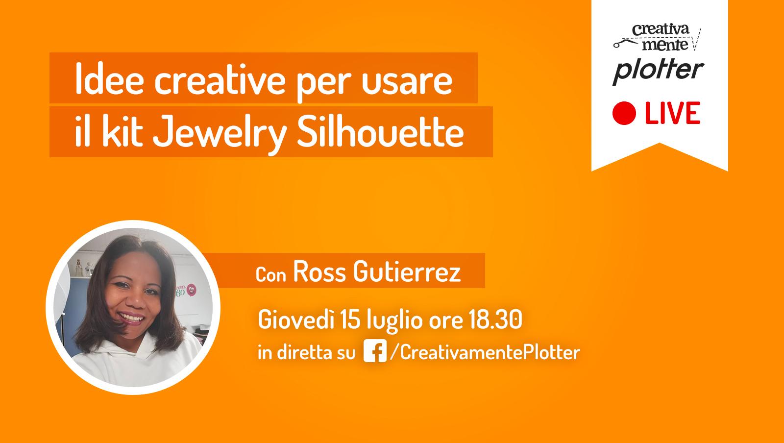 Diretta Ross kit gioielli Silhouette Creativamente Plotter