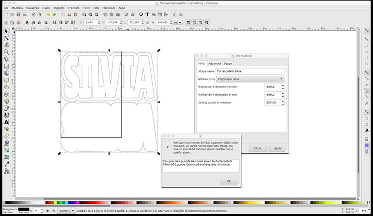 Software taglia polistirolo Polyshaper Creativamente Plotter